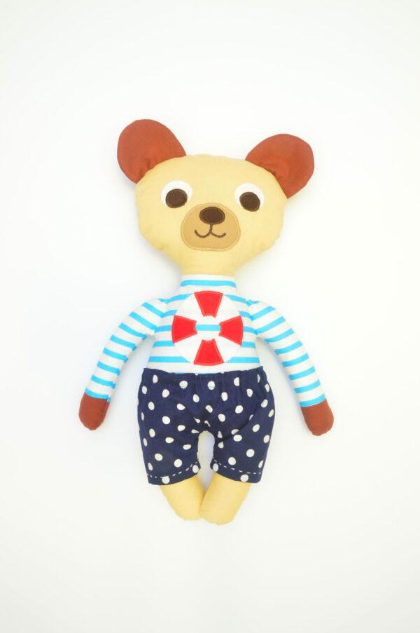 medvídek Jáchym v modrých kalhotkách