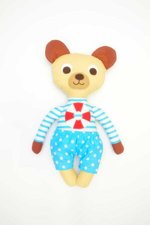 medvídek Jáchym v tyrkysových kalhotkách