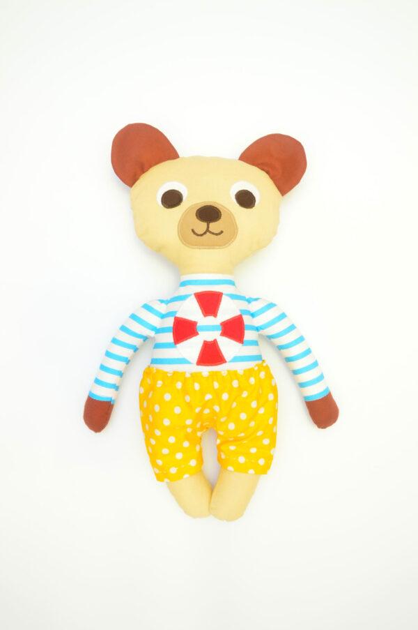 medvídek Jáchym v žlutých kalhotkách