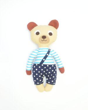 medvídek Florián v modrých kalhotkách