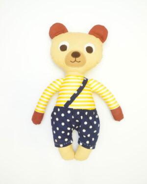 medvídek Bonifác v modrých kalhotkách