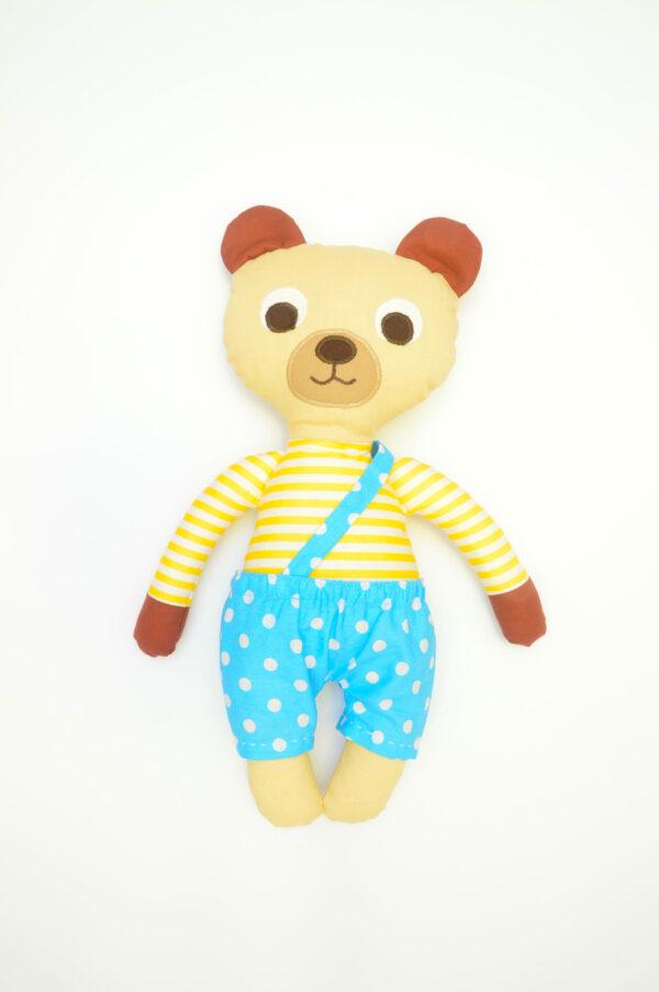 medvídek Bonifác v tyrkysových kalhotkách