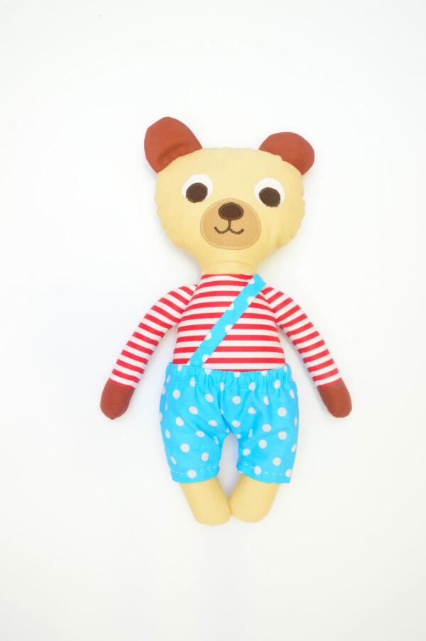 medvídek Ervín v tyrkysových kalhotkách