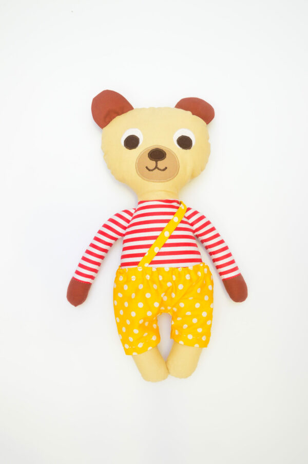 medvídek Ervín v žlutých kalhotkách