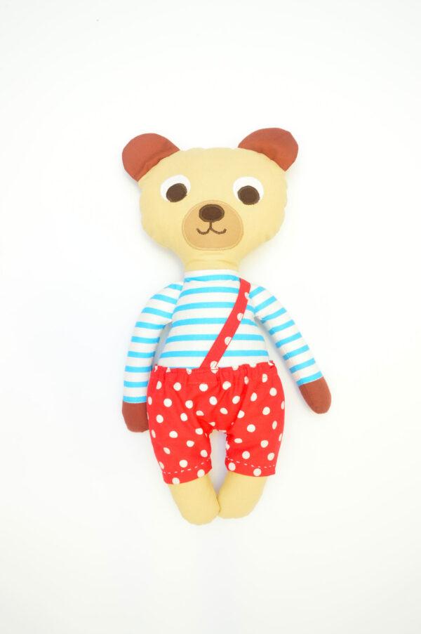 medvídek Florián v červených kalhotkách
