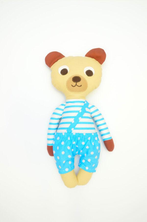 medvídek Florián v tyrkysových kalhotkách