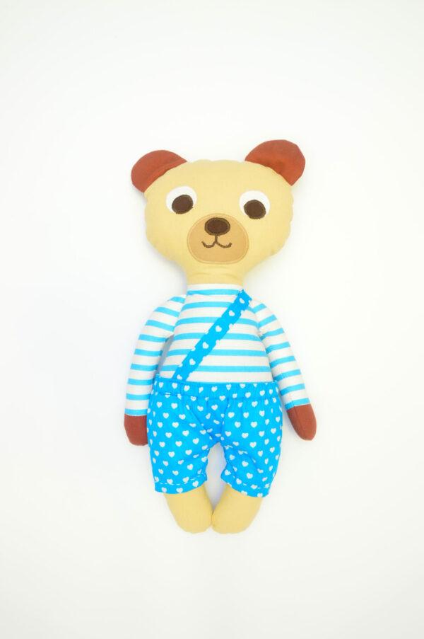 medvídek Florián v tyrkysových kalhotkách se srdíčky