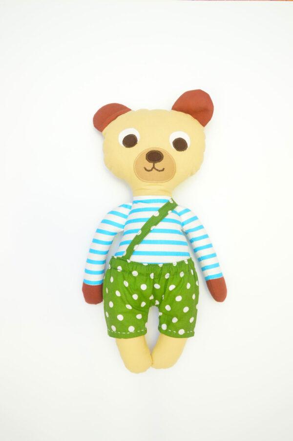 medvídek Florián v zelených kalhotkách