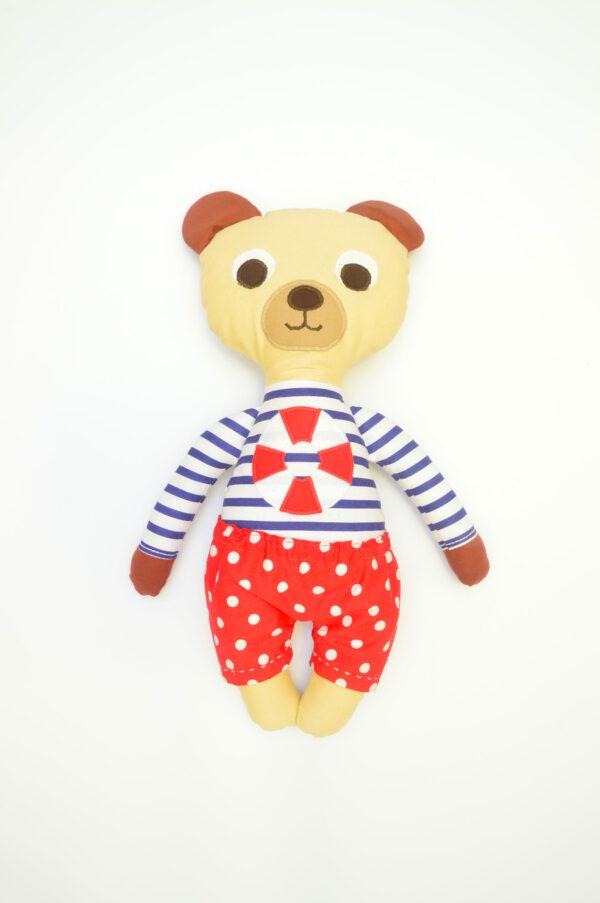 medvídek František v červených kalhotkách