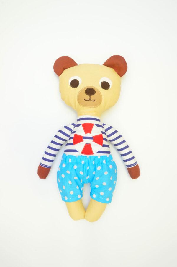 medvídek František v tyrkysových kalhotkách