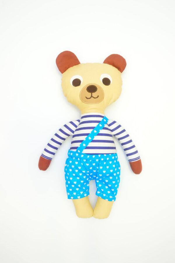 medvídek Hugo v tyrkysových kalhotkách se srdíčky