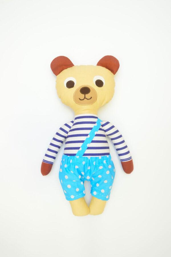 medvídek Hugo v tyrkysových kalhotkách