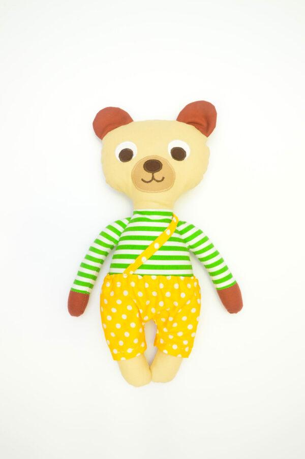 medvídek Vendelín v žlutých kalhotkách