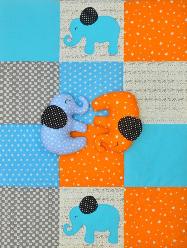 dětská deka se slony a látkoví sloni