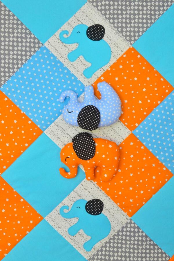 dětská deka s hvězdičkami a látkoví sloníci