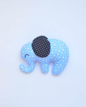 modrý látkový slon