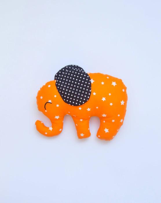 oranžový látkový sloník