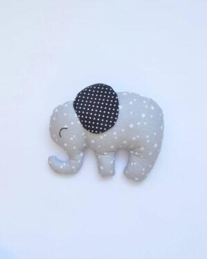 šedý látkový sloník