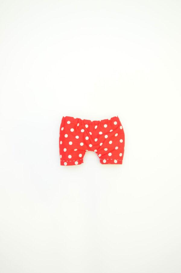 červené kalhotky pro látkového medvěda