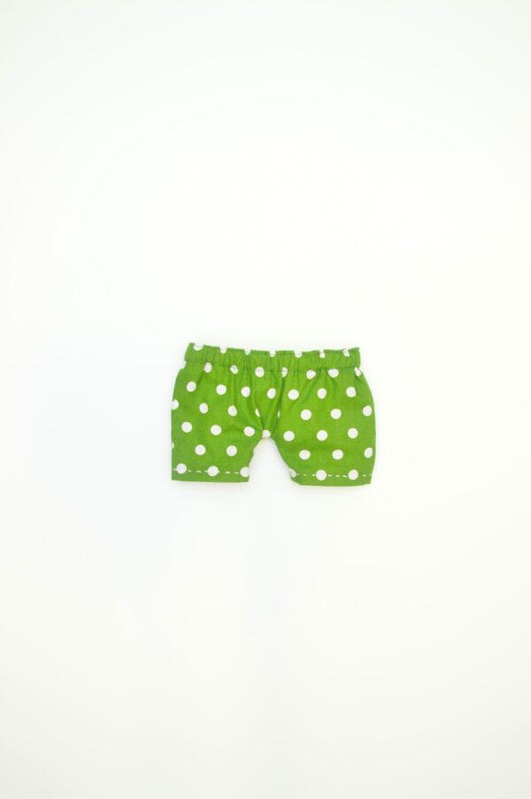zelené kalhotky pro látkového medvěda