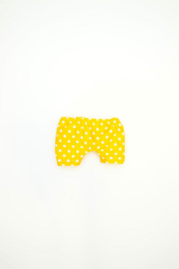 žluté kalhotky pro látkového medvěda