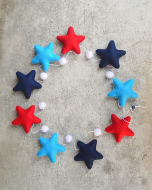 námořnická dekorace s hvězdičkami
